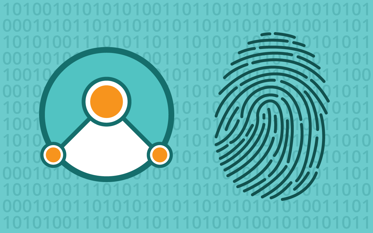 Simbound logo and fingerprint